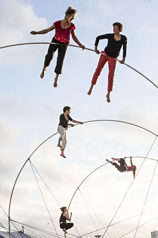 Akrobater på La Spire